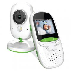 Moniteur vidéo pour bébé-caméra à distance sans fil, vision nocturne, surveillance de la température et écran couleur portable 2