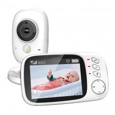3.2 Zoll LCD Video Babyphone mit Kamera und Audio (EU-Stecker)