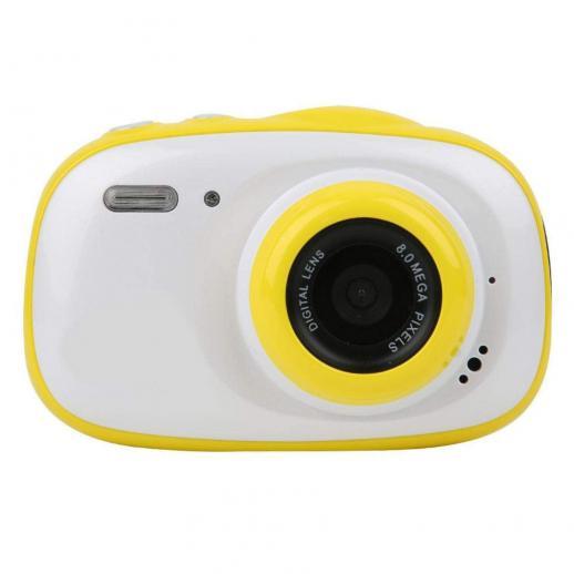 Appareil photo étanche pour enfant, appareil photo numérique sous-marin pour enfant 5MP full HD 720p vidéo mignon appareil photo 2,0 pouces LCD, zoom numérique 6x, appareil photo étanche pour filles/garçons (jaune)