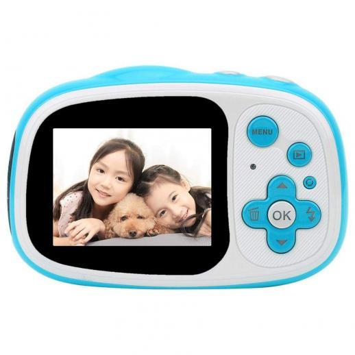 Appareil photo étanche pour enfant, appareil photo numérique sous-marin pour enfant 5MP full HD 720p vidéo mignon appareil photo 2,0 pouces LCD, zoom numérique 6x, appareil photo étanche pour filles/garçons (bleu)
