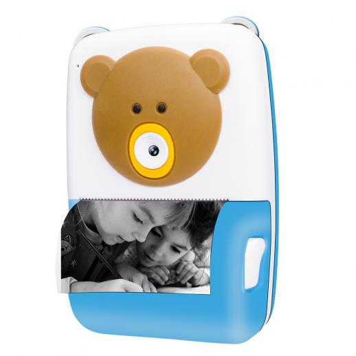 Children's instant camera, children's camera with printing paper, 2.4-inch TFT, educational games, USB charging, 1080P high-definition video, 12MP children's digital camera, creative printing camera