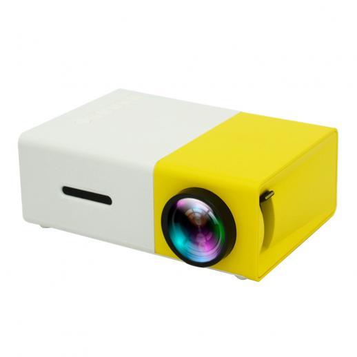Mini proiettore LED tascabile 1080P Full HD Funziona con TV Stick (spina europea)