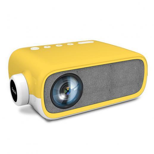 Mini Videoprojektor, 1080P Bärbar Smart Pocket-Projektor, Liten Hemprojektor för Sovrum, Bärbar Dator iPhone Hdmi USB TV Av-GRänssnitt för Barn GåVA (EU-Kontakt)