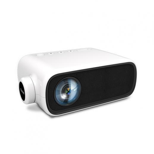 Przenośny mini kieszonkowy projektor kina domowego YG280 LED 1080p - biały (wtyczka EU)