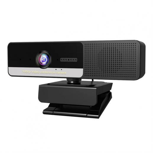 Webcam H200 con microfono e altoparlante 1080p 3 in 1 HD Streaming Webcam Business Meeting Webcam USB per YouTube Skype Facetime PC Mac Laptop Desktop