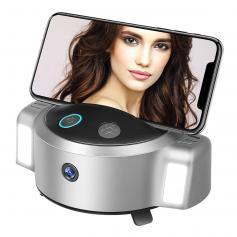 Statyw z automatycznym śledzeniem twarzy Obrót o 360 ° Uchwyt do aparatu telefonicznego z lampką pierścieniową do selfie, bez aplikacji