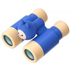 Binoculars for kids, 10x28 Compact Shock Proof Binoculars, Great Fun Toys for Outdoor Hiking, Bird Watching, Travelling (Blue)