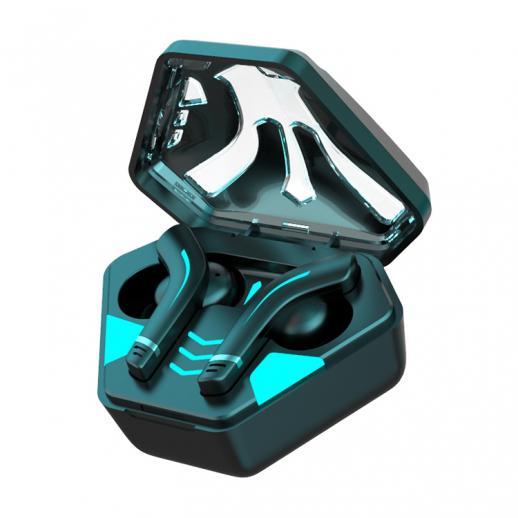 Zestaw słuchawkowy do gier TWS Bezprzewodowy zestaw słuchawkowy Bluetooth Stereofoniczny bezprzewodowy zestaw słuchawkowy Bezprzewodowy zestaw słuchawkowy do gier, oddychające światło i skrzynka ładująca typu C, dla IOS / Android