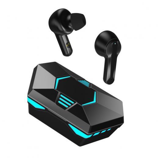 X23 Casque sans fil Bluetooth 5.1 avec microphone Écouteurs de jeu à commande tactile stéréo Hifi à faible latence avec affichage numérique