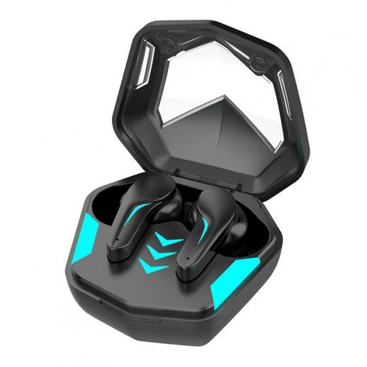 Casque de jeu Bluetooth sans fil 65 ms à faible latence Casque Bluetooth sans fil Casque antibruit Couplage automatique Écouteurs