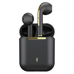 TWS Bluetooth-Ohrhörer Drahtlose Ohrhörer In-Ear-Headset Schwarz für Mobilgeräte