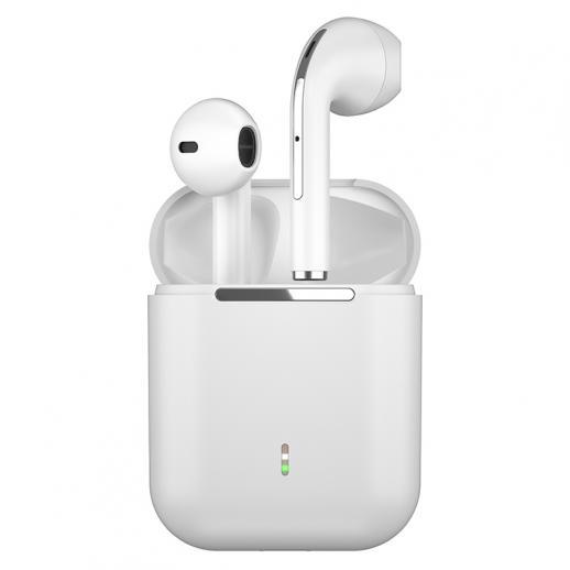 TWS Bluetooth-koptelefoon Stereo echte draadloze headset oordopjes in het oor Handsfree koptelefoon oordopjes voor mobiele telefoon wit