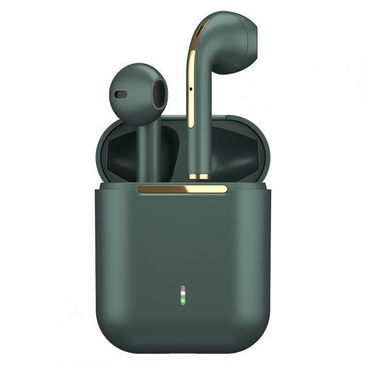 TWS Bluetooth-hoofdtelefoon Stereo echte draadloze headset oordopjes in het oor Handsfree koptelefoon oordopjes voor mobiele telefoon groen