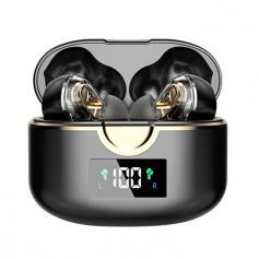 Zestaw słuchawkowy HiFi Stereo z dwoma głośnikami Wyświetlacz LED mocy Ultralekki zestaw słuchawkowy z funkcją automatycznego parowania Wodoodporny mikrofon sportowy Bluetooth Wbudowany