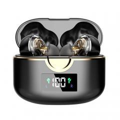 Casque Bluetooth stéréo à double haut-parleur HiFi Affichage de l'alimentation LED Casque d'appariement automatique ultra-léger Bluetooth Microphone de sport étanche Intégré
