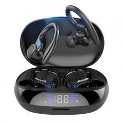 TWS Bluetooth Casque Avec Microphone Sport Oreille Crochet Affichage LED Casque Sans Fil Hifi Stéréo Écouteurs Casque Étanche