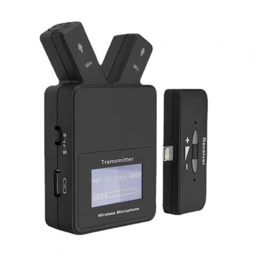 W108 Plug & Play 2,4 GHz Lavalier draadloze microfoon voor iPhone & iPad