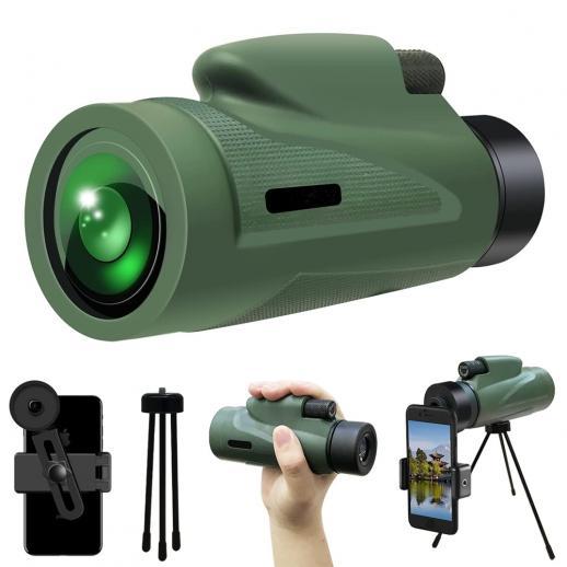 12X50 HD monoculars, waterproof monoculars-BAK4 prism, used for hunting, bird watching, hiking