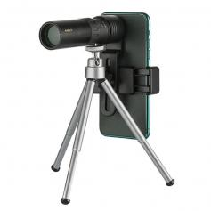 10-300×40 continuous zoom monoculars, with smart phone holder and tripod, used for bird watching, hunting, camping