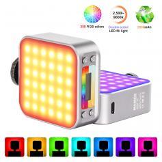 LED-D01 dual-color RGB fill light, 2000mAh rechargeable CRI 95+ 2500-9000K