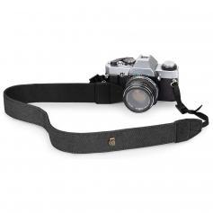 Retro kamera axelremmar, justerbar nackrem Lämplig för alla SLR -kameror (Nikon Canon Sony Pentax) Classic Black Woven