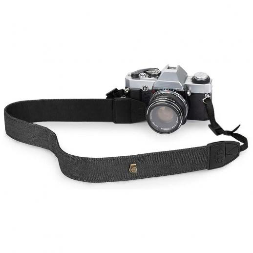 Retro Camera Shoulder Straps, Adjustable Neck Strap Suitable for All Slr Cameras (Nikon Canon Sony Pentax) Classic Black Woven