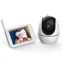 "Baby Monitor 720P 4.5"" HD Display Screen with 2-way Audio and Temperature Sensor"