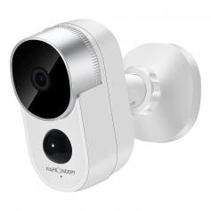 Zewnętrzna kamera bezpieczeństwa, bezprzewodowy system kamer bezpieczeństwa domowego z akumulatorem, 1080P HD, wodoodporny, noktowizor, wykrywanie ruchu, 2-kanałowy dźwięk