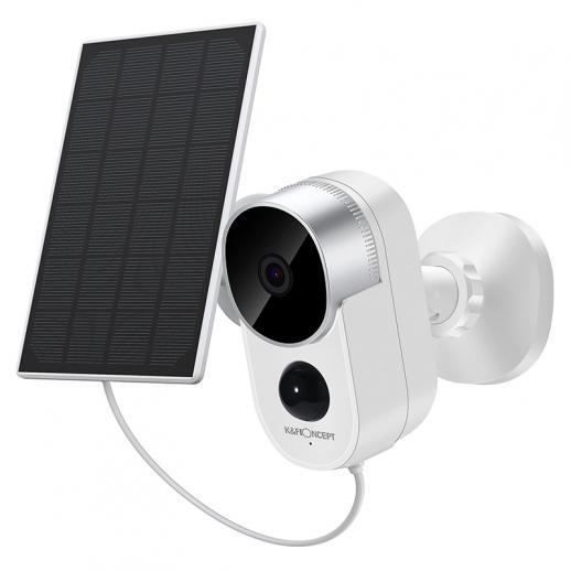 Set di telecamere di sicurezza per esterni solari 1080P HD Motion Detection Telecamera di sorveglianza wireless con batteria ricaricabile Audio a 2 vie