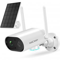 2K HD Solar Power WiFi-Heimüberwachungskamera IP66 mit Farbnachtsicht