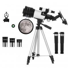 Astronomy Telescope for Kids Adults Beginners, 70mm Refractor Telescopes with Mobile Phone Holder & Adjustable Tripod