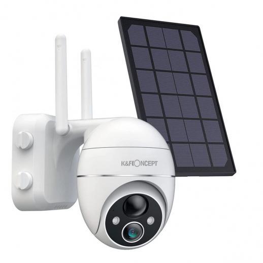 Solar 1080P Überwachungskamera Wireless WiFi Schwenken/Neigen 360°