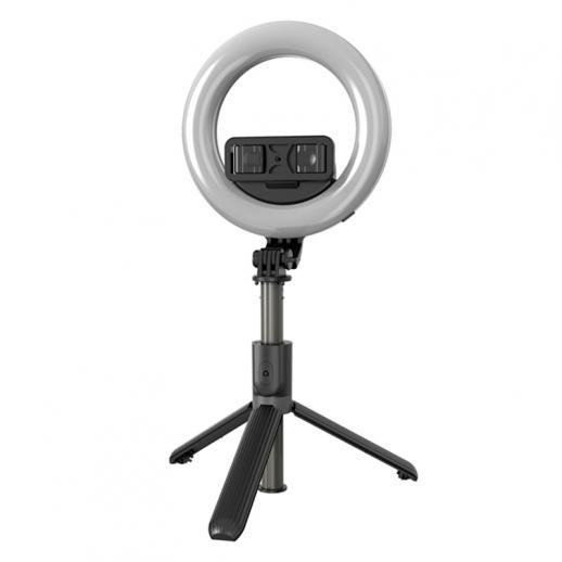 L07 mit 6-Zoll-Ringlicht, Stativ, Handyhalterung, Bluetooth-Fernbedienung, 3 in 1 tragbares LED-Fülllicht Selfie-Stick-Stativ, dimmbar 3 Farben, geeignet für YouTube, Video, TikTok, Live-Make-up