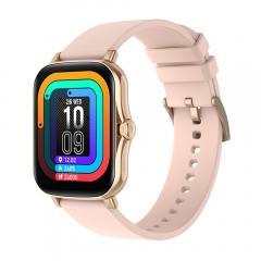 Montre intelligente Y20 avec surveillance de la fréquence cardiaque et du sommeil, écran tactile complet de 1,7 pouces, montre de fitness intelligente pour femmes et hommes, compatible avec Android iPhone iOS or rose
