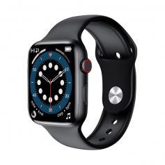"""W26+ PRO Smart Watch 1,75"""" Full-Touchscreen mit Herzfrequenz kompatibel mit Android iOS Schwarz"""