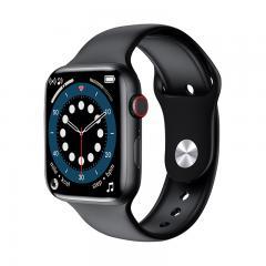 Montre intelligente W26+ PRO, prise en charge des appels Bluetooth, avec fréquence cardiaque, pression artérielle, oxygène dans le sang, surveillance de la température corporelle, écran tactile complet de 1,75 pouces, montre de fitness intelligente pour f