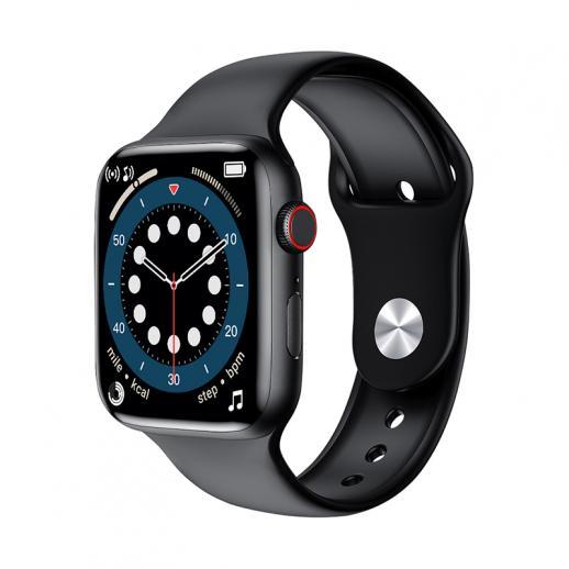 Relógio inteligente W26 + PRO com tela de toque total de 1,75 polegadas compatível com Android iOS Preto