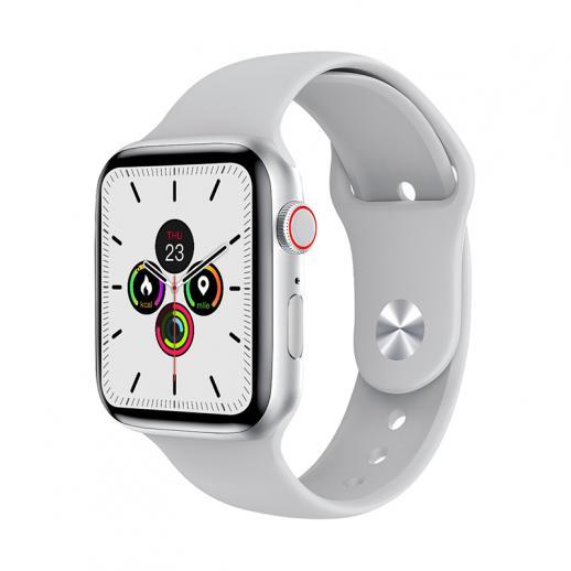 Relógio inteligente W26 + PRO com tela de toque total de 1,75 polegadas compatível com Android iOS Branco