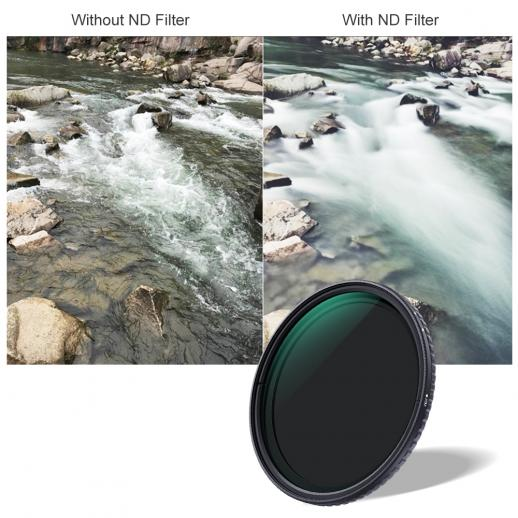 67mm ND2-ND32 Variabele ND-filter Neutrale Dichtheid Nano-X
