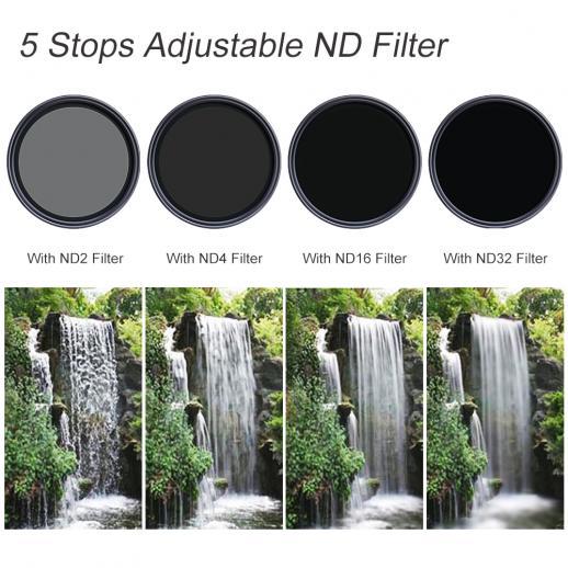 Graufilter Variabler ND 72mm ND2-ND32 Nano-X