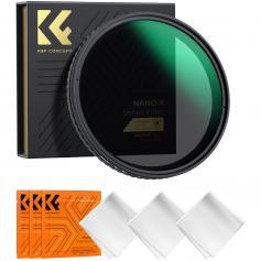 Filter ND Variabel 72mm ND2-ND32 Neutral Densitet Nano-X