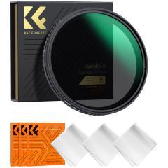 K&F XV37 49mm Variable ND2 - ND32 Filtres Sans Croix NoirRevêtement 18 couches multi-résistantes