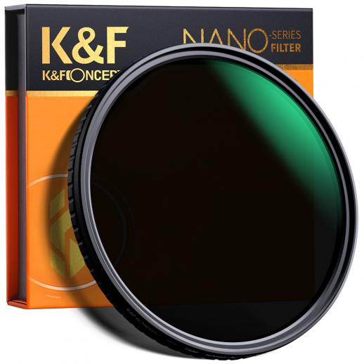 K&F Concept 77 mm Variabel ND-filter Verstelbare fader Neutrale dichtheid ND2 - ND32-filter, GEEN Spot X Black X-probleem, MRC 18-laags, Ultraslank, Waterdicht