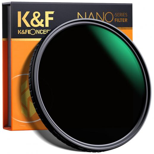 K&F XV39 55 mm variabel ND8-ND128-filter met nano-coating