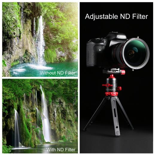 67mm Variabler ND2-ND32 Graufilter und Polfilter