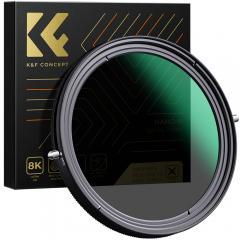 K&F XB41 82mm Variable ND&CPL Filtres 2 en 1 Nano Sans Croix Noir