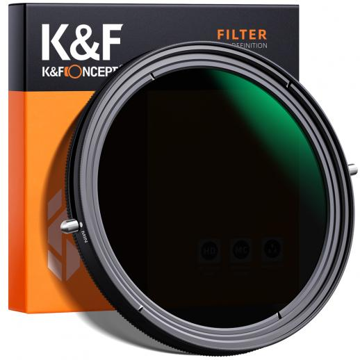 "K&F XB41 72 mm variabel ND- en CPL-filter 2-in-1-functie Nano-coating Geen ""X"" -kruis"