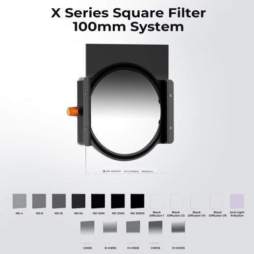 Densidade Neutra Graduada Macia GND8 3 f-stop Filtro 100 * 150mm