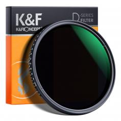 58mm Variable Netural Density Filter ND8-ND2000 (3-11stop) Adjustable ND Filter with Multi-Layer Coating