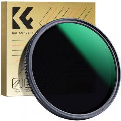 K&F MV35 72mm Variable impermeable ND8-ND2000 Filtres avec Multi-Résistant Couche